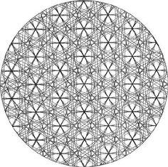 a fleur de vie complète a les deux autres couches ajoutées, la rendant tridimensionnelle