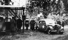 Lindemann is arrested by a British force and taken to custody in Kastellet in Copenhagen after he organized and led the withdrawal of the German troops from Denmark, 4-6-1945 Silkeborg Bad