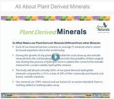 These minerals are plant derived. 100% are absorbed into the body as opposed to 10 to 20% with the usual rock based minerals. I am a big fan! Huge! #minerals #alternativehealing