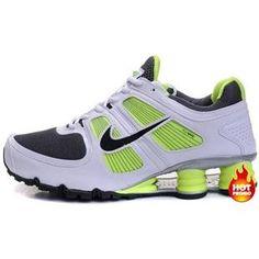 518c49e0a6c Mens Nike Shox Turbo 11 White Green Black Mens Nike Shox