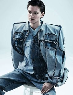 Denim Overload Editorials - The Cool Blue Dazed & Confused Fashion Story is 90s Inspired (GALLERY)