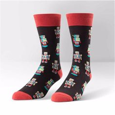 Sock It To Me Mens Crew Robosocks Socks