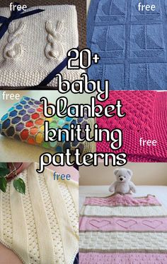 Baby Blanket Knitting Patterns, many free patterns at http://intheloopknitting.com/baby-blanket-knitting-patterns/
