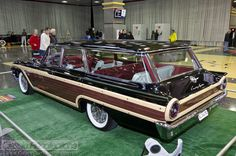 This 1961 Ford Country Squire station wagon is parked in the lobby of the 2012 Muscle Car and Corvette Nationals. Wagon Trails, Station Wagon Cars, Mercury Cars, Ford Fairlane, New Trucks, Food Trucks, Us Cars, Ford Motor Company, Cars And Motorcycles