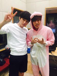 [Facebook] 150726 #인피니트 L & Dongwoo - KBS Radio Writer Park Jung Hee