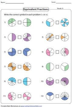 Fractions grade math worksheets free and printouts fraction common core wor Fractions Worksheets Grade 4, Fractions Équivalentes, Equivalent Fractions, Kids Math Worksheets, Comparing Fractions, Dividing Fractions, Math Multiplication, Fraction Activities, Math Activities