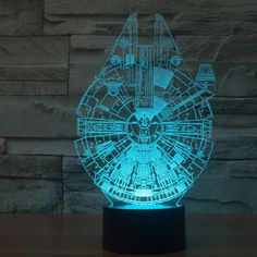 The Millennium Falcon 3D LED lamp creates an optical illusion that tricks the eyes. Light up your lives with Lampeez. Get yours today!