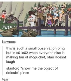 It's because he knows what McGucket used to be like and feels bad for him! I noticed this too during the episode!