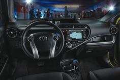 Toyota's smallest and most fuel-efficient hybrid model, the Prius C hatchback, has… Toyota Prius, Toyota Corolla, Toyota Supra, Toyota Canada, Toyota Dealership, Interior Window Shutters, Automotive News, New And Used Cars, Toyota Land Cruiser