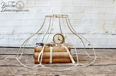 Deconstructed Lamp Shade - Wire Cloche by KnickofTime