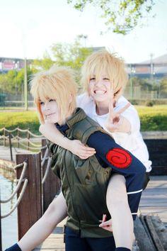 AMAZING cosplay ll Naruto ll Naruto with his  father Minato Uzumaki