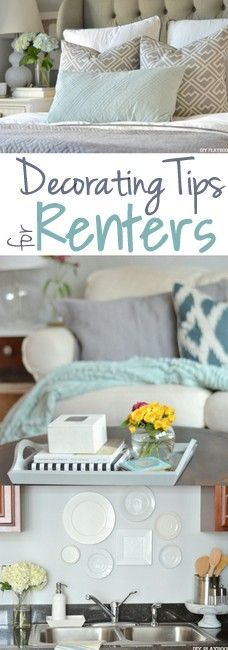It doesn't matter if you live in a dorm room, rental, or your own home sweet home...it should be a space you love that reflects your style & personality! Here are decorating tips for renters (& just about everyone!)