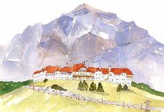 Ilustración Hotel Llao Llao, Lorraine Green, Año 2013