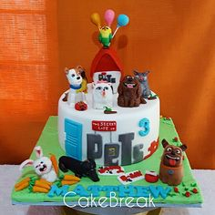 The secret life of pets cake   #secretlifeofpets #secretlifeofpetscake