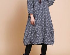 Lose Montage lange Maxi-Kleid braun / Double Long dress von MaLieb