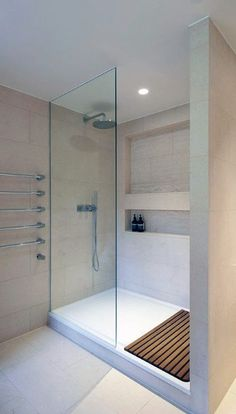 From marble flooring to ceiling shower heads, discover the top 50 best modern shower design ideas. Take a walk into luxury interior inspiration. Attic Shower, Small Shower Room, Small Bathroom, Shower Rooms, Bathrooms, Modern Bathroom Design, Bathroom Interior Design, Douche Design, Luxury Shower