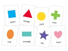 FREE printable--basic printable shapes flash cards--this is a GREAT website with free printables!