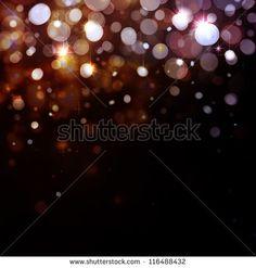 Lights on black background - stock photo