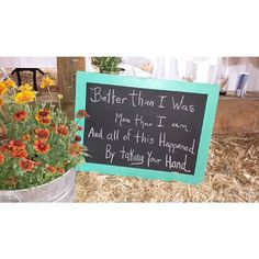 Signs for a rustic wedding