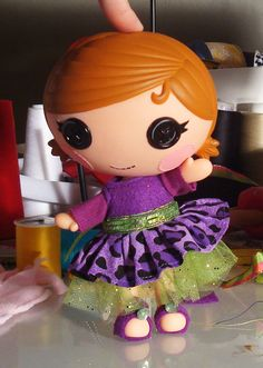 Lalaloopsy Littles Wild Purple Dress with by PeppermintPiglets, $10.50