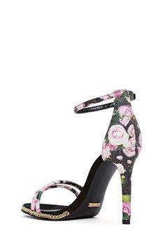 black floral heel