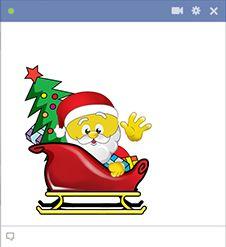 Santa is aboard his sleigh!