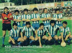 Temporada 1980/81 - Subcampeón de 2°B Grupo 1. De pie de izqda a dcha: Blay, Pardo l, Lolo, Pardo ll,Piña, Villanueva. Agachados: Muñoz, Chechu, Traba, José Luis y Alfonso Castro.