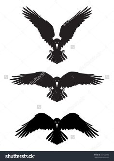 Dark Evil Heraldic Raven With Spread Wings. Mascot, Logotype, Label. Stock Vector Illustration 437122495 : Shutterstock