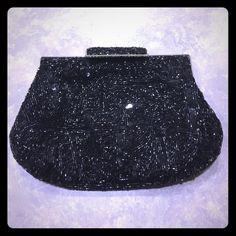 Black sequin clutch Cute little black clutch. Covered in sparkles!brand new. Literally used once at a wedding. Kate Landry Bags Clutches & Wristlets