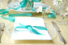 teal | Enjoy this teal table, with hints of lime and cut paperwhites. It's ...