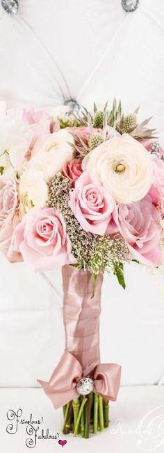 Rachel A. Clingen Wedding Bouquet ♔Glamorous Wedding♔   blush wedding   www.endorajewellery.etsy.com