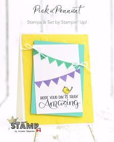 nice people STAMP! - Stampin' Up! Canada: Pick a Pennant & Big Wishes Card: All Star Tutorial Bundle Blog Hop