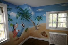 A Day at the beach, fifth view - Mural Idea in Dobbs Ferry NY