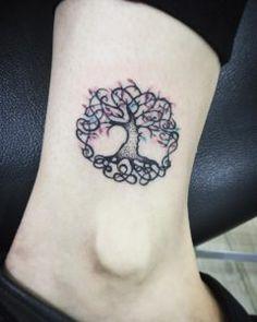 Beautiful tree of life tattoo by Sara Morales