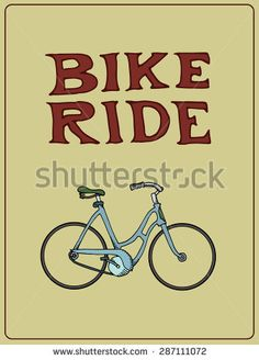 Poster with vintage bicycle.