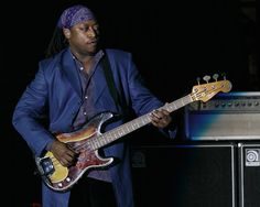 Daryl Jones - The Rolling Stones. Check him out on Miss You live