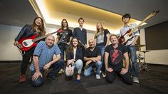 .ANU School of Music music students jam with Spanish rock star