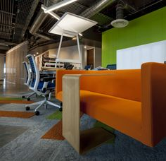Gentera Innovation Lab Offices – Mexico City. Featuring Bivi desk and Rumble Seat, Campfire Personal Table.