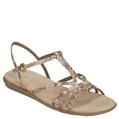 Women's Aerosoles Chlique Sandal Tan Snake FamousFootwear.com