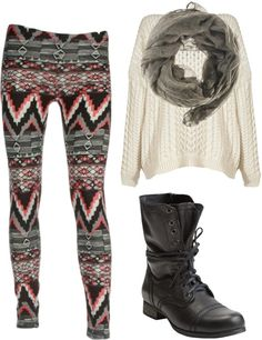 """Aztec Leggings & Jumper"" by jordankhames on Polyvore"