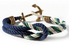 Tutorial here: http://ablissfuldream.blogspot.be/2012/02/diy-nautical-rope-bracelet.html