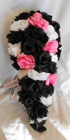 Hey, I found this really awesome Etsy listing at https://www.etsy.com/listing/290801685/black-white-and-pink-wedding-set-14-pc