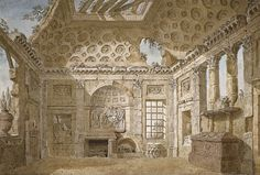 mbelt: Design for the Ruin Room at Sta Trinita dei Monti, Rome, by Charles-Louis Clerisseau, c. 1766books n buildings : Photo