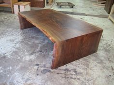 2 Claro Walnut Live Edge Waterfall Coffee Table Building Ideas, Building A House, Low Tables, Wood Slab, Outdoor Furniture, Outdoor Decor, Tabletop, Project Ideas, Woods