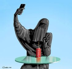 Holy Selfie: Satirical Illustrations Of Non secular Figures Taking Selfies The individuals agree: selfies are unhealthy. And Azerbaijani cartoonist Gündüz Ağayev is utilizing them in his illustrations to satirize spiritual ic. Selfies, Political Satire, Political Cartoons, Satirical Illustrations, Social Injustice, Religious People, Humor Grafico, Atheism, French Art