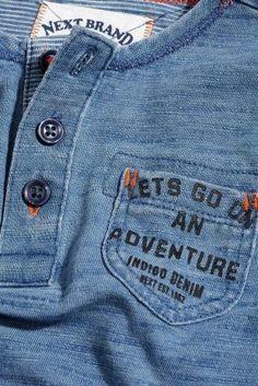Acheter Top grand-père bleu à manches longues (3 mois - 6 ans) disponible en…