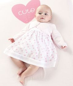 Mothercare Floral Dress and Cardigan Set