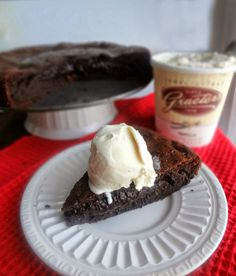 The Cooking Actress: Flourless Chocolate Peanut Butter Cake
