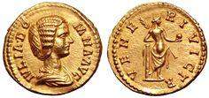 Roman Empire AV Aureus ND circa 193-96 AD Empress Julia Domna