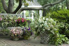 Unique planters for the deck
